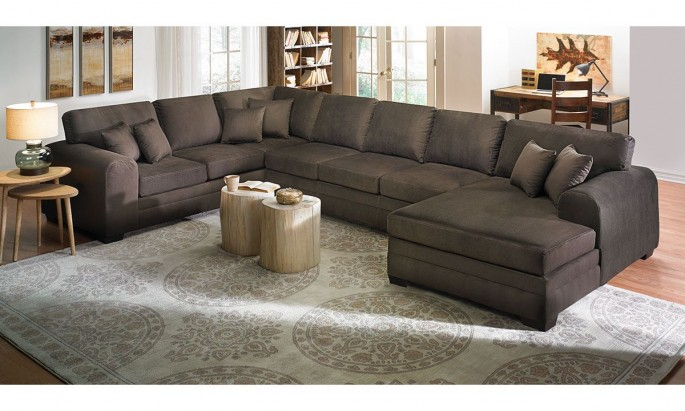 Chic Reclining Sofa With Chaise Lounge Furniture Comfortable Oversized Sectional Sofas For Your Living