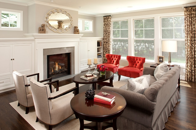Chic Red Accent Chair With Ottoman The Accent Chairs For Living Room Embellishment Red Chair Houzz
