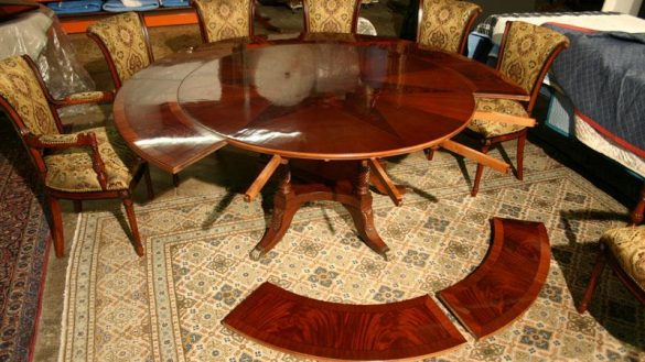 Chic Round Dining Room Table With Leaf Mesmerizing Round Dining Room Tables With Leaf Contemporary Best