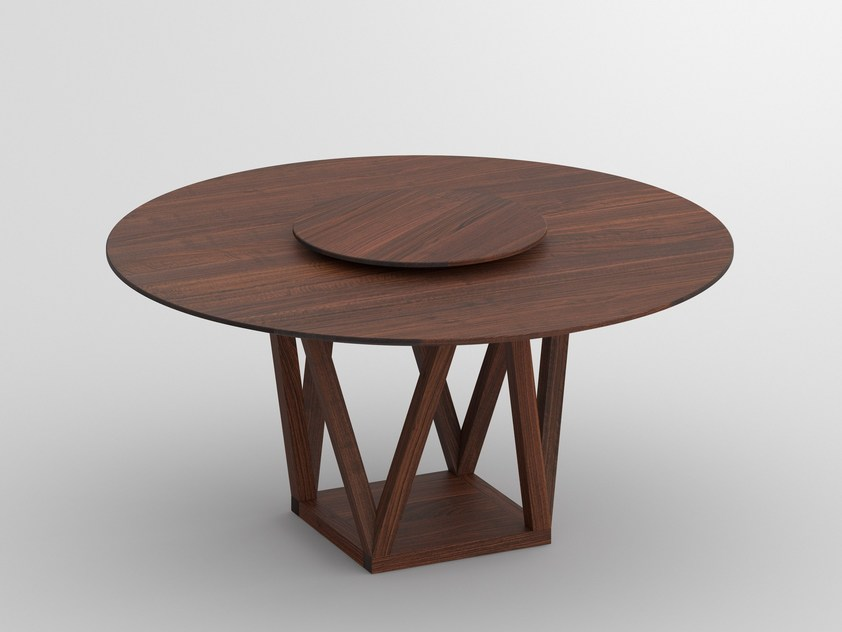 Chic Round Solid Wood Dining Table Round Solid Wood Dining Table Creo Vitamin Design