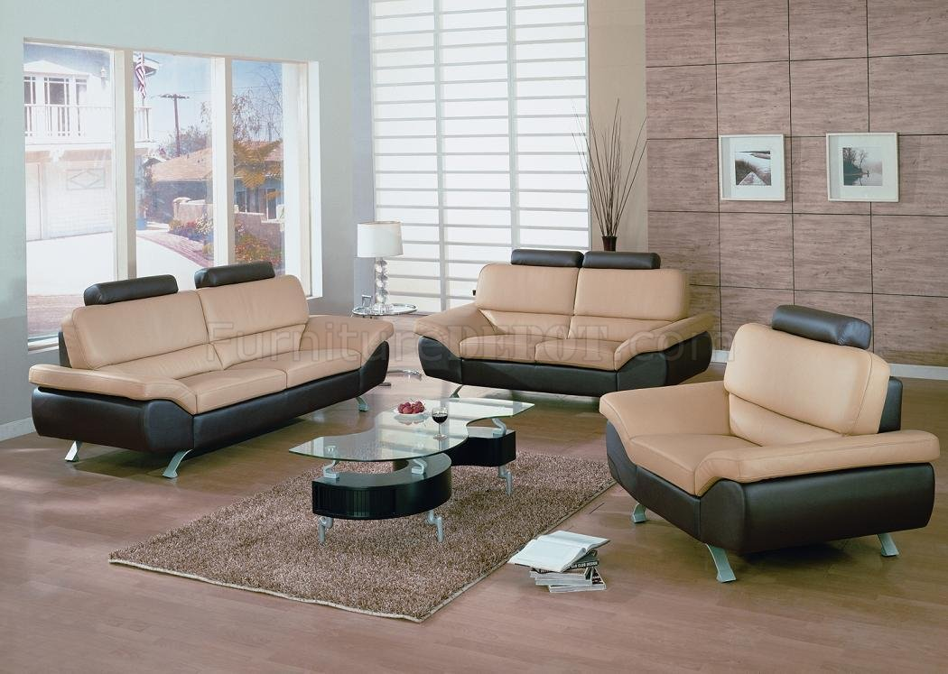 Chic Set Of Two Living Room Chairs Bali Dm 1030 Leather Beige Brown Living Room Set