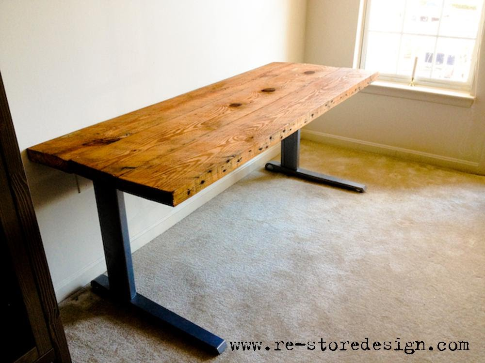 Chic Simple Wood Office Desk Reclaimed Wood Desk Reclaimed Wood Desk Diy Reclaimed Wood