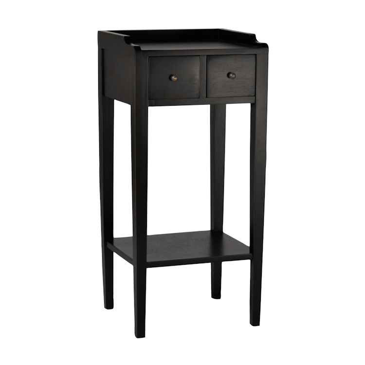 Chic Small Black Night Table Amazing Small Bedside Table Ideas With Black Color Wooden Material