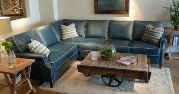 Chic Small Blue Sectional Sofa Awesome Blue Leather Sectional Sofa With Blue Sectional Sofa Blue