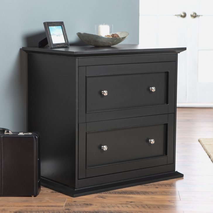 Chic Small Lateral File Cabinet Black Wood File Cabinet Lateral With Lock Black Wood File