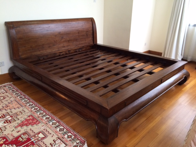 Chic Solid King Bed Frame King Size Bed Frames Origin Asia Solid Teak Wood King Size Bed