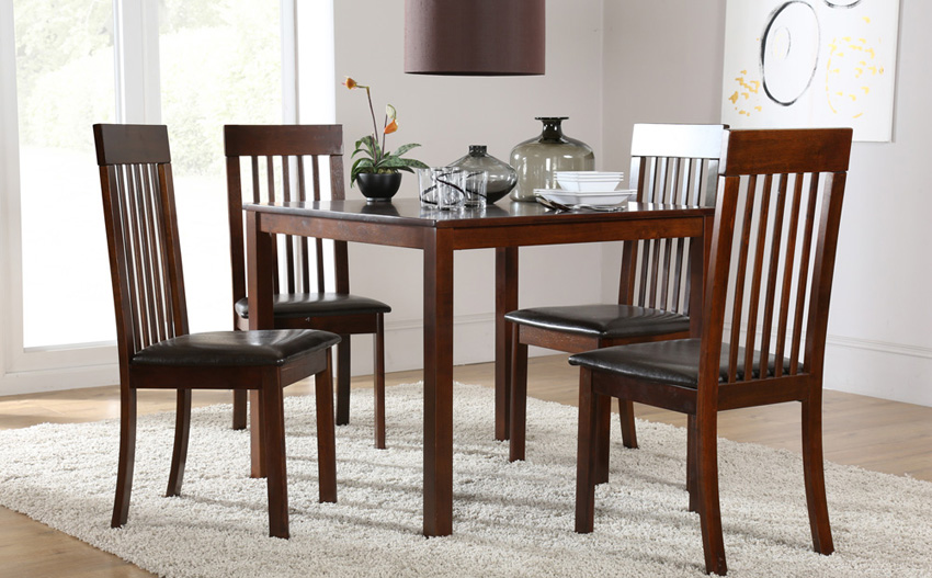 Chic Square Dining Room Table For 4 Beautiful Dark Wood Dining Tables And Chairs Dark Wood Dining