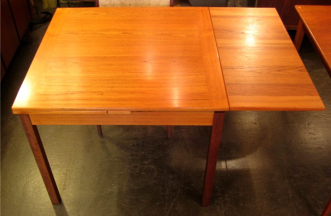 Chic Square Dining Table With Leaves Square Teak Draw Leaf Dining Table Sold White Trash Nyc