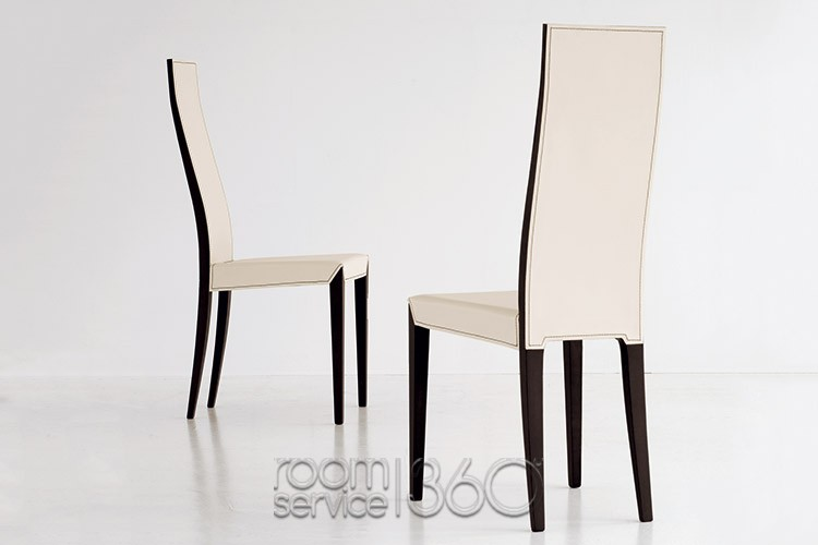 Chic Tall Back Leather Dining Chairs Lady High Back Leather Dining Chair Cattelan Italia