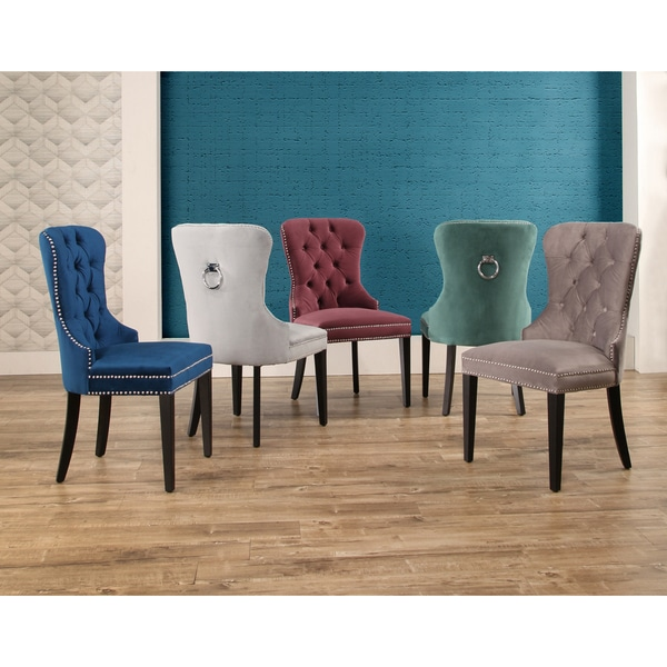 Chic Tufted Dining Chair Abson Versailles Tufted Velvet Dining Chair Free Shipping