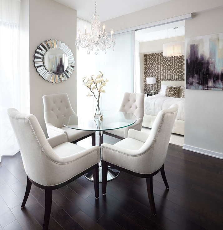 Chic Tufted Dining Room Set White Tufted Dining Chairs Contemporary Dining Room Lux Design