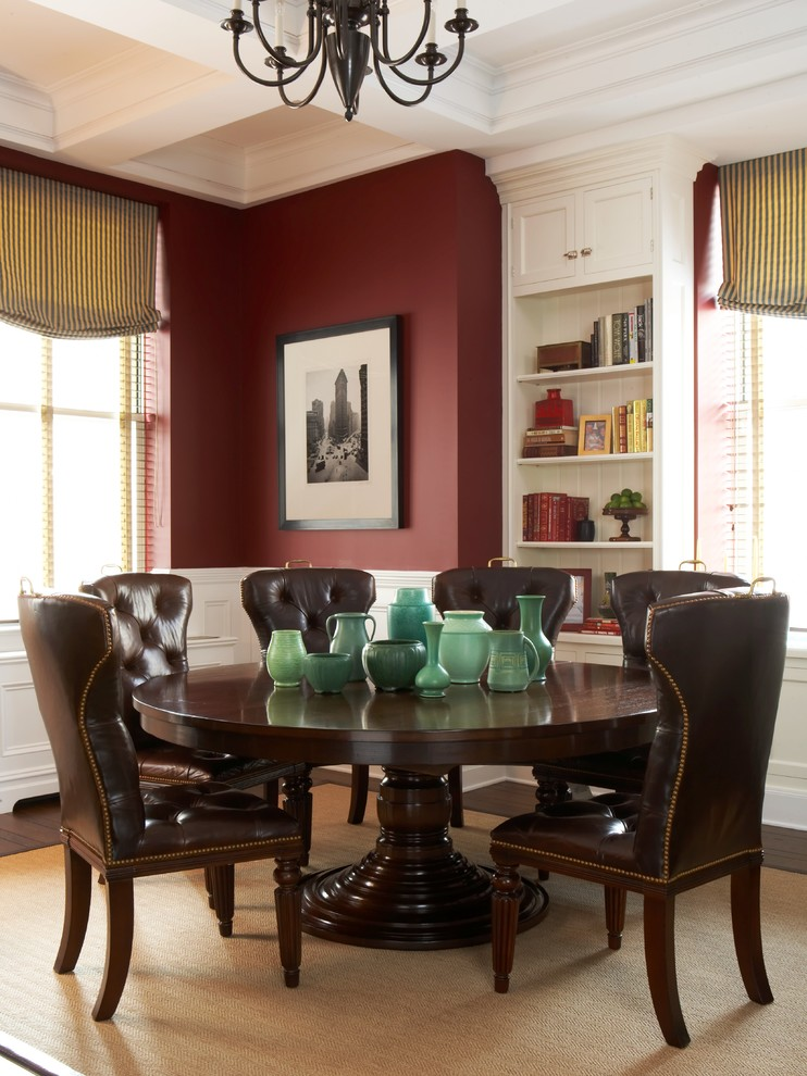 Chic Tufted Leather Dining Room Chairs Tufted Leather Dining Chair Dining Room Traditional With Beige Rug