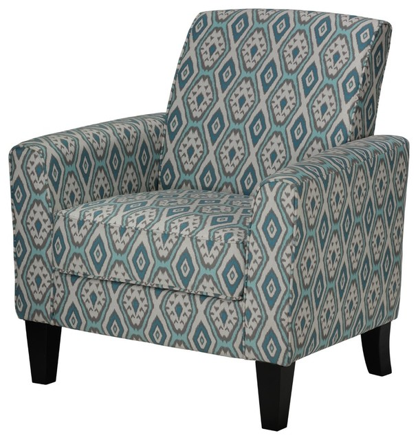 Chic Turquoise Blue Accent Chair Cortesi Home Tali Blue Diamond Arm Accent Chair Contemporary