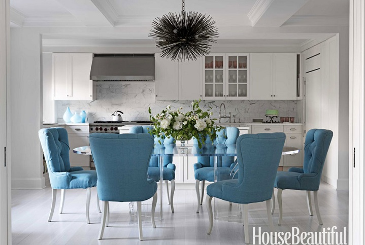 Chic Turquoise Dining Room Chairs Turquoise Dining Chair Eclectic Dining Room House Beautiful