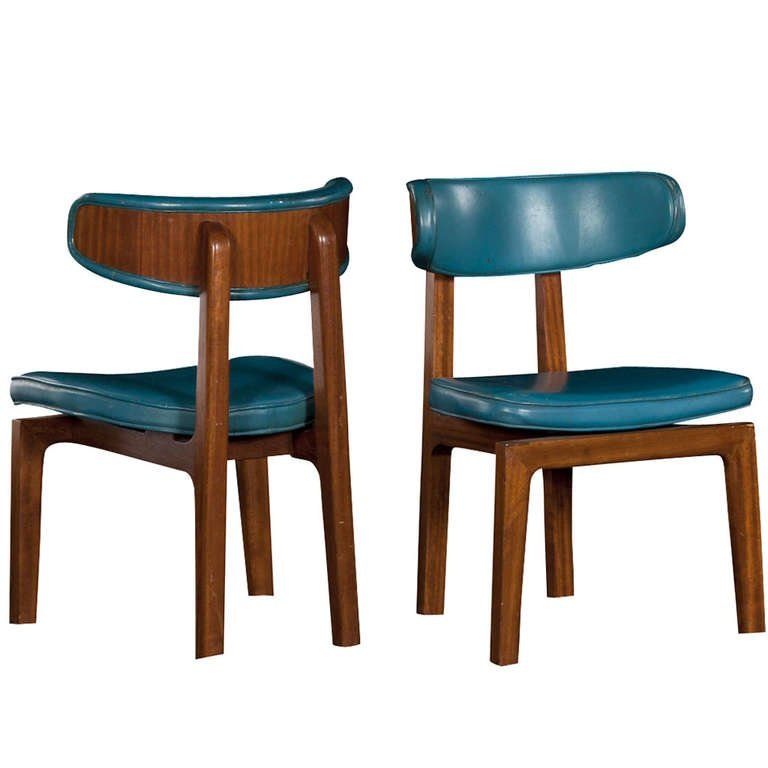 Chic Turquoise Leather Dining Chairs Blue Leather Dining Chairs At 1stdibs