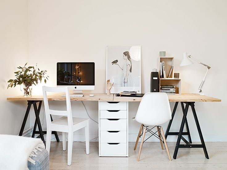 Chic Two Station Computer Desk Best 25 Two Person Desk Ideas On Pinterest 2 Person Desk Home