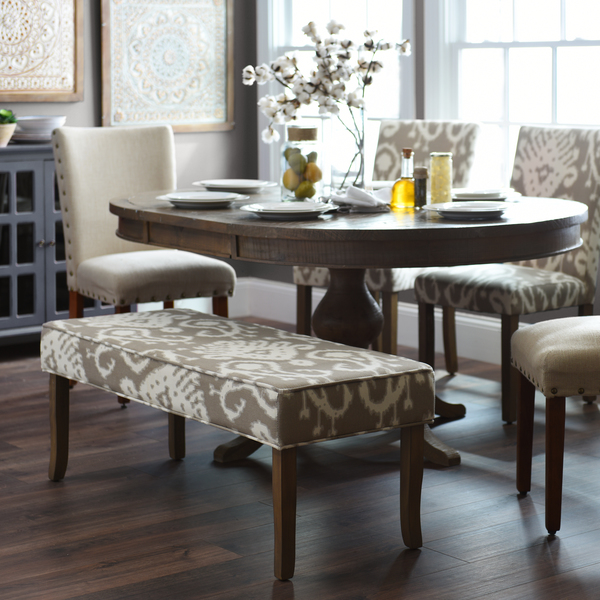 Chic Upholstered Dining Room End Chairs How To Mix Match Upholstered Furniture My Kirklands Blog