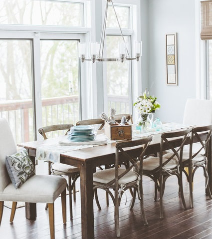 Chic Upholstered Dining Room End Chairs Mix And Match Dining Chairs For A Casual Kitchen Or Dining Room
