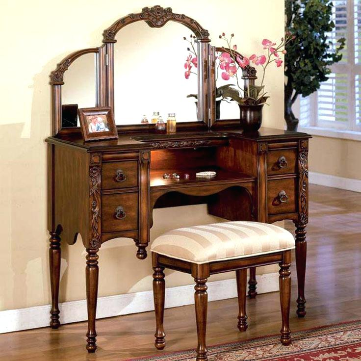 Chic Vanity With Mirror And Stool Vanities Vanity Set With Mirror And Stool Vanity Set Bench