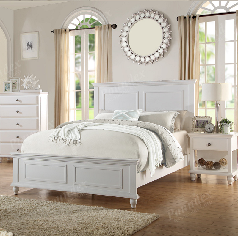 Chic White California King Bed Poundex California King Bed White Finish F9270ck