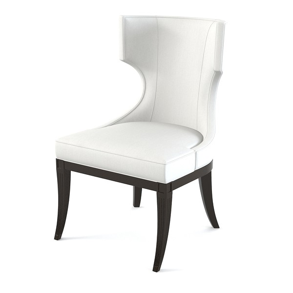 Chic White Cushioned Dining Chairs Sofa Decorative Upholstered White Chair Luxurious And Modern
