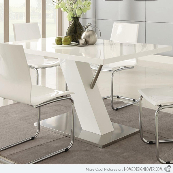 Chic White Dining Table Modern Refreshingly Neat 15 White Dining Sets Home Design Lover