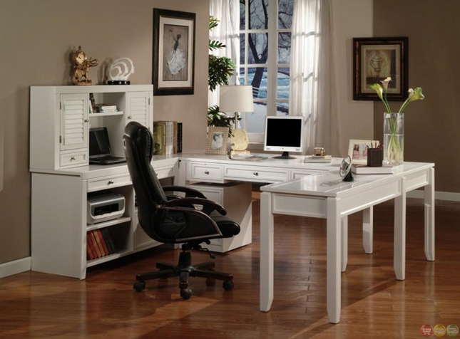 Chic White Home Office Furniture Sets White Home Office Furniture Sets For Exemplary Home Office Suite