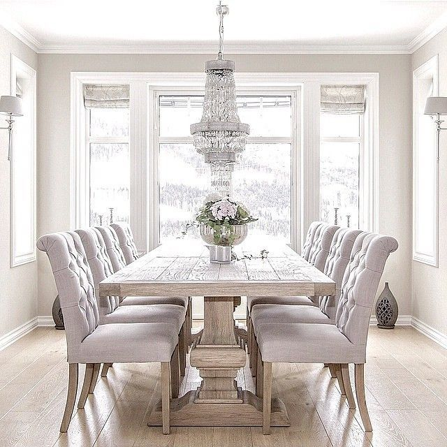 Chic White Kitchen Dining Chairs Best 25 Gray Dining Tables Ideas On Pinterest Gray Dining Rooms