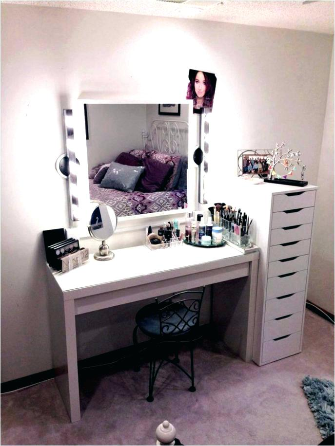 Chic White Makeup Vanity With Storage White Makeup Vanity With Storage Vanity Drawers White