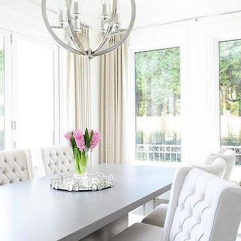 Chic White Tufted Dining Chairs Dining Room Nadina Tufted Linen Chair White Chairs Dark Gray