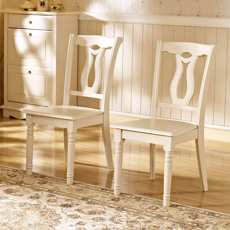Chic White Wood Dining Chairs Debon Premier Modern Stylish Simplicity European Ivory White Wood