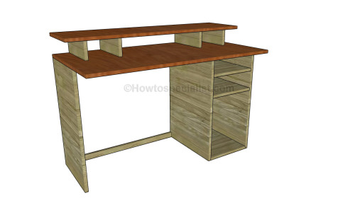 Chic Wood Computer Desk Plans Free Computer Desk Plans Howtospecialist How To Build Step
