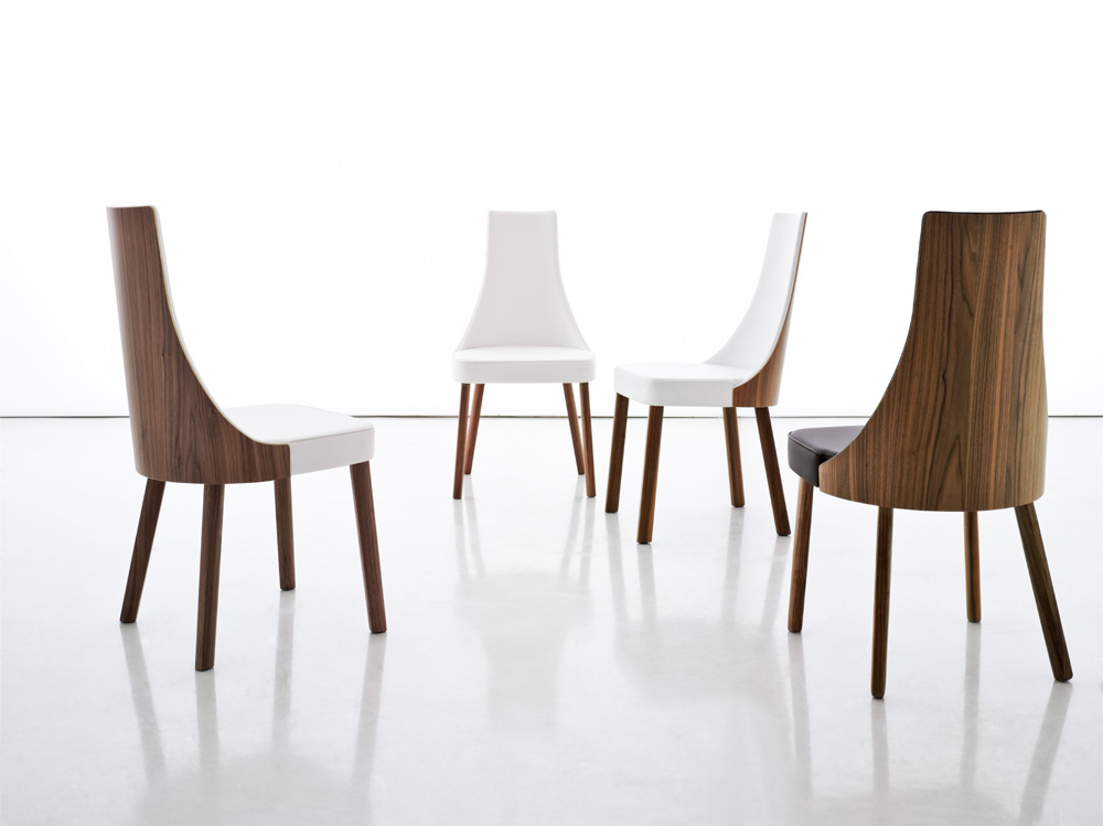 Chic Wood Leather Dining Chairs Collection In White Modern Dining Chairs With Dining Room