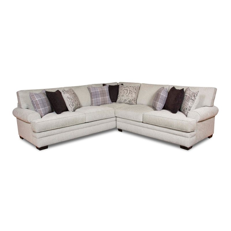 Creative of 2 Piece Sectional Couch White And Gray 2 Piece Sectional Sofa With Raf Loveseat Griffin