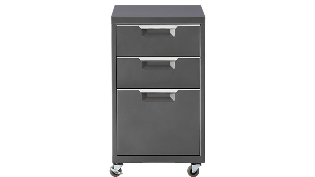 Creative of 3 Drawer Metal Filing Cabinet With Lock Tps Carbon Rolling File Cabinet Cb2