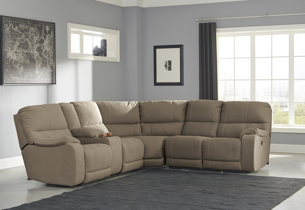 Creative of Ashley Furniture Reclining Sectional Bohannon Collection 57403 Power Reclining Sectional Ashley