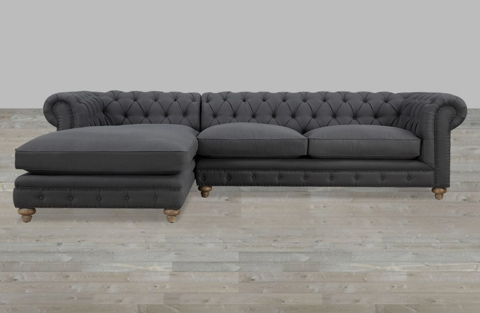 Creative of Ashley Furniture Tufted Couch Attractive Gray Tufted Sofa With Cobblestone Hartigan Sofa Ashley