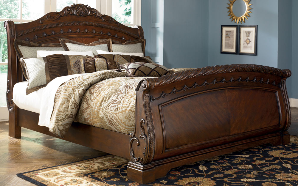 Creative of Ashley King Size Bed Set North Shore California King Size Sleigh Bed From Millennium