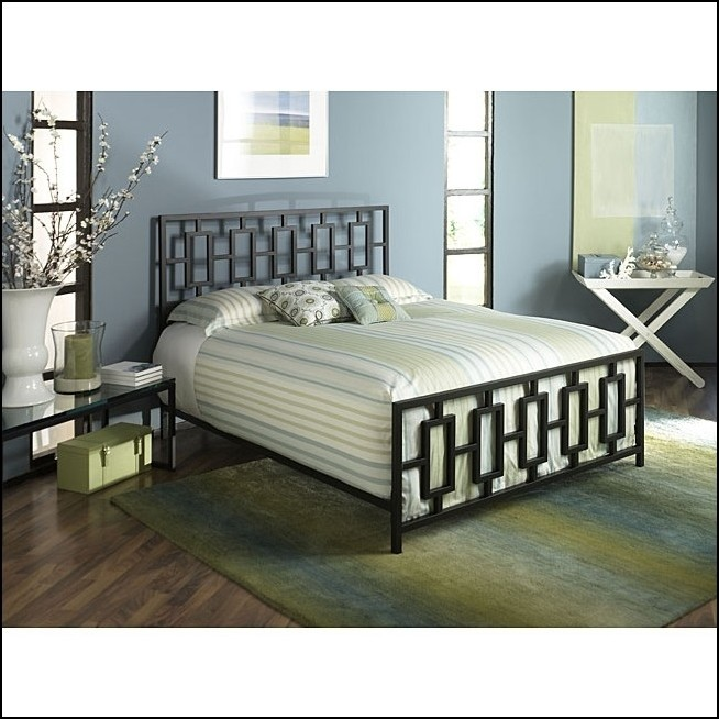 Creative of Bed Frame Full Size Headboard Footboard Bedroom Marvelous King Metal Bed Frame With Modern Square Tubing