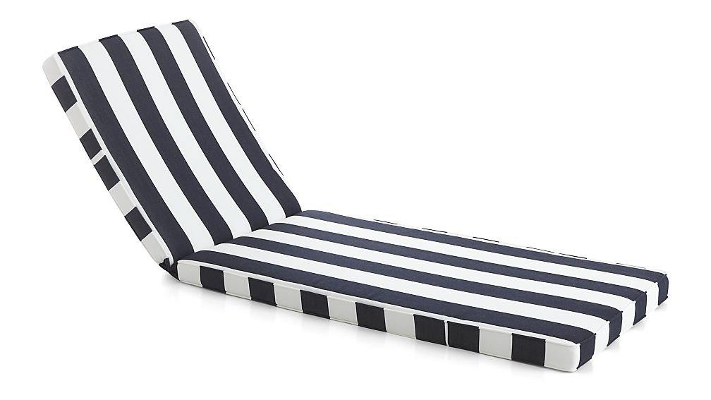 Creative of Black And White Chaise Regatta Sunbrella Chaise Lounge Cushion Crate And Barrel