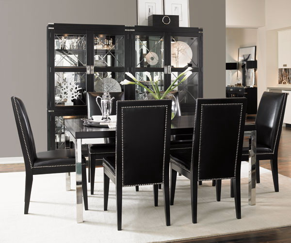 Creative of Black And White Dining Chairs Lovely Ideas Black And White Dining Room Set Inspirational Design
