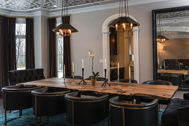 Creative of Black Tufted Dining Room Chairs Black Tufted Dining Chair Contemporary Dining Room