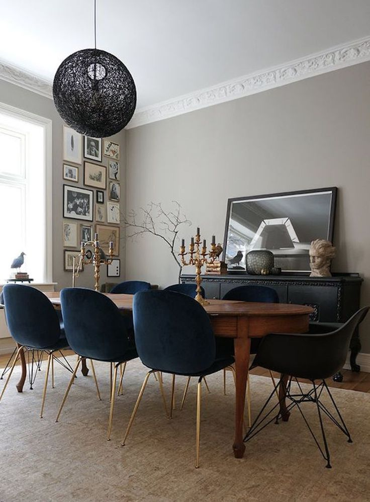 Creative of Blue Leather Dining Room Chairs Best 25 Oval Dining Tables Ideas On Pinterest Oval Kitchen