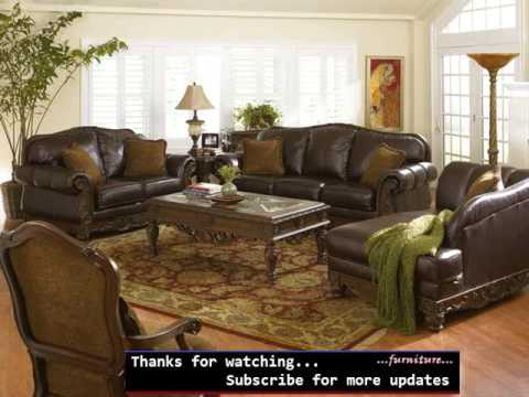 Creative of Brown Leather Living Room Set Leather Living Room Furniture Set Colelction Romance Youtube