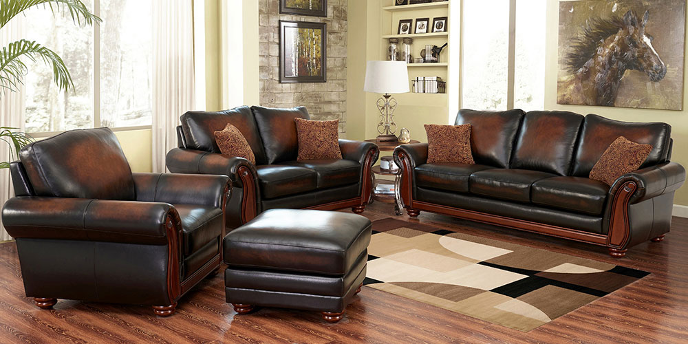 Creative of Brown Leather Living Room Set Living Room Sets Costco