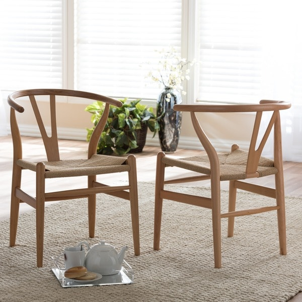 Creative of Brown Wood Dining Chairs Baxton Studio Brown Wood Dining Chair With Hemp Seat Free