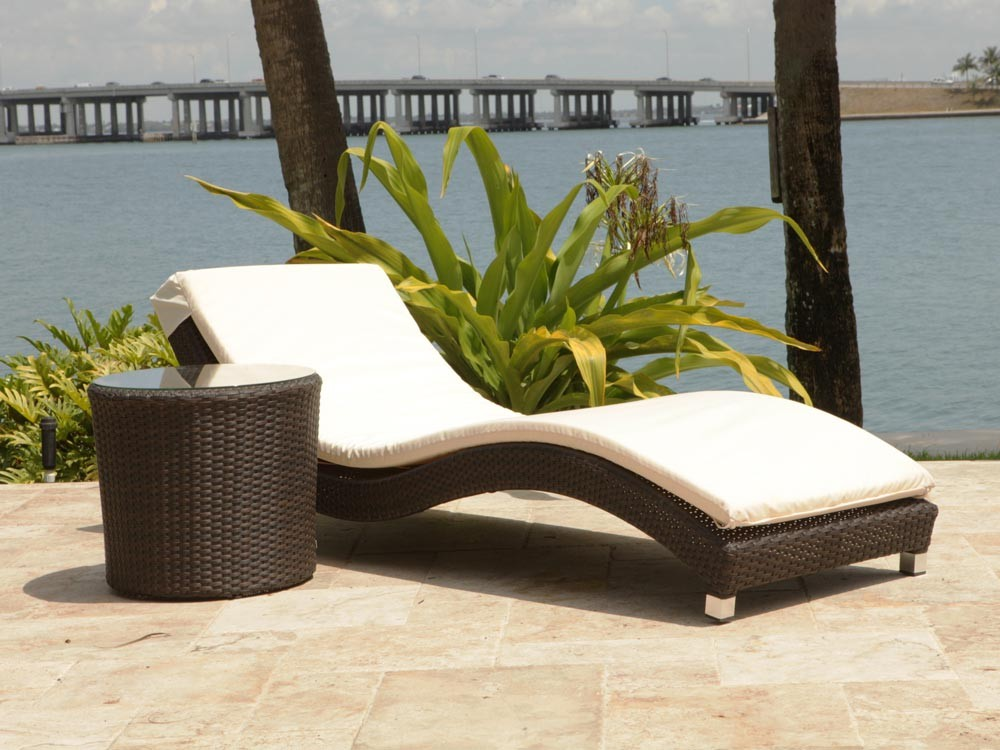 Creative of Chaise Lounge For 2 Source Outdoor Wave 2 Piece Wicker Chaise Lounge Set Wicker