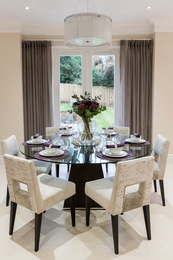 Creative of Circle Dining Room Table Round Glass Dining Table A Modern Practical Option