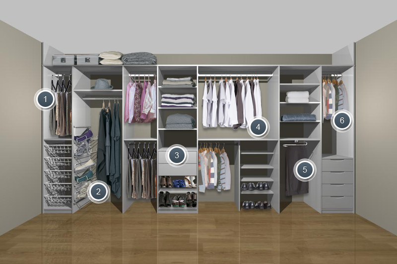 Creative of Clothes Storage Systems In Bedrooms City Life And Wardrobe Solutions Darlanefurniture