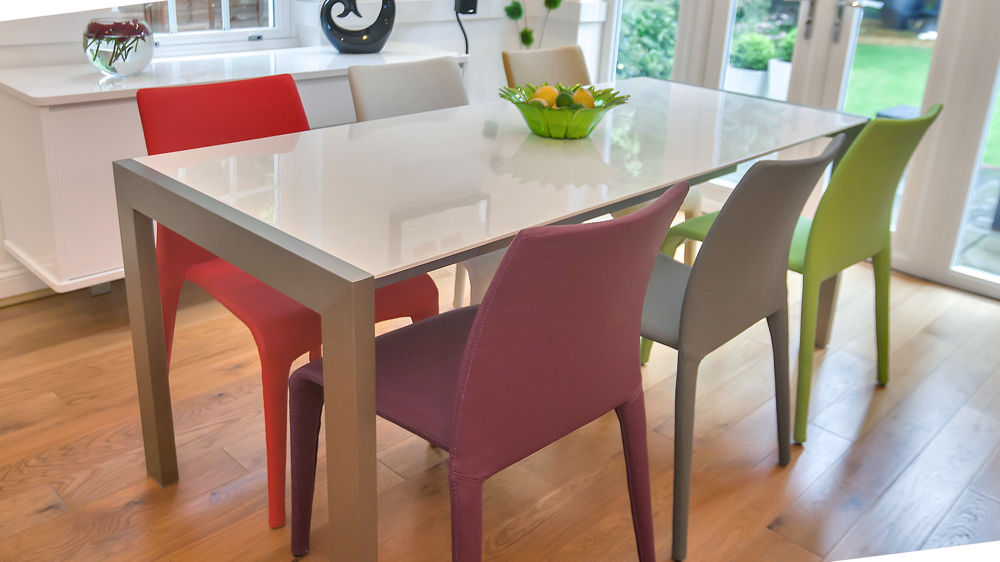 Creative of Coloured Dining Room Chairs Modern White Gloss Extending Dining Table And Bright Coloured